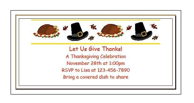 Free Printable Thanksgiving Invitations For Kids Thanksgiving