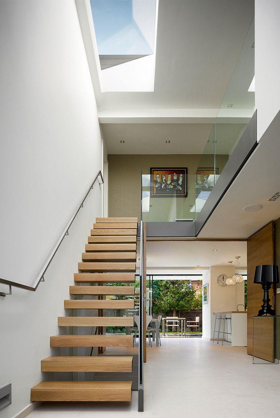 Best Light Oak And Glass Modern Staircase Minimalist House 640 x 480