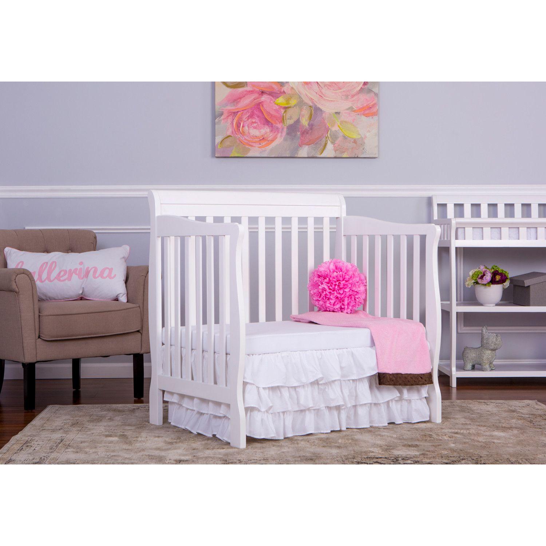 Dream On Me Aden 4 In 1 Mini Convertible Crib Reviews Wayfair Mini Crib Cribs Crib Design