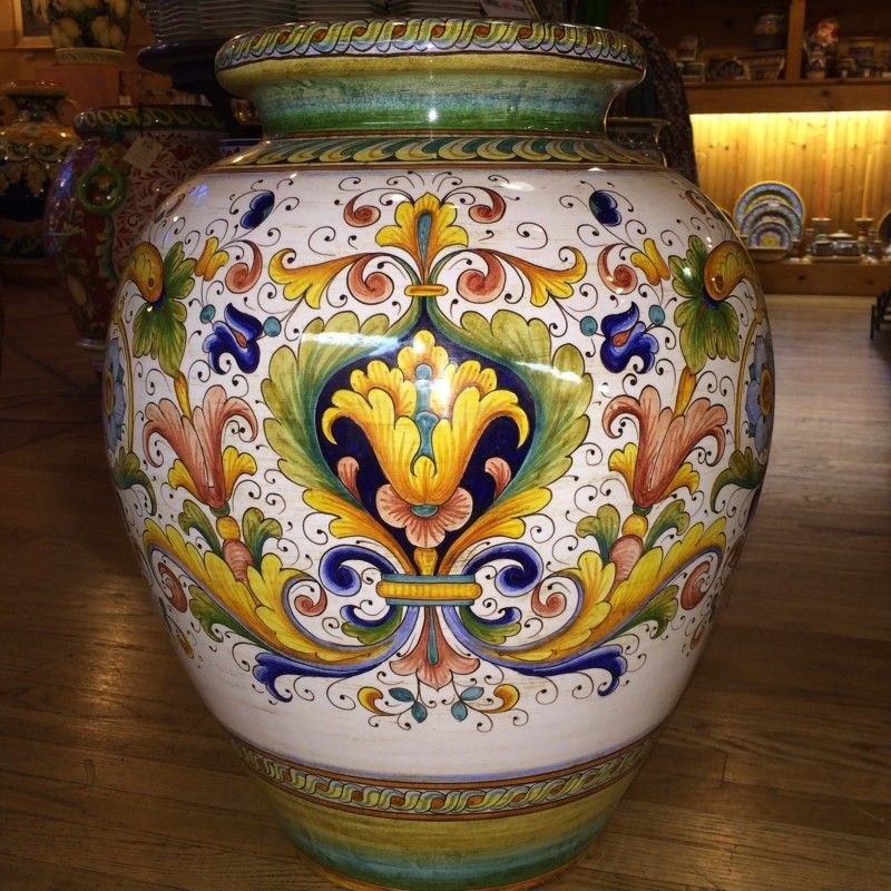 Decorative Large Urns Custom Large Colored Ricco Deruta Italian Ceramic Urn  The Deruta Design Ideas