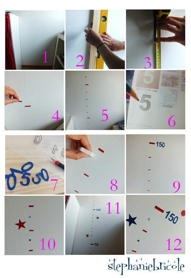 idee deco pour chambre d enfant faire une toise en stickers