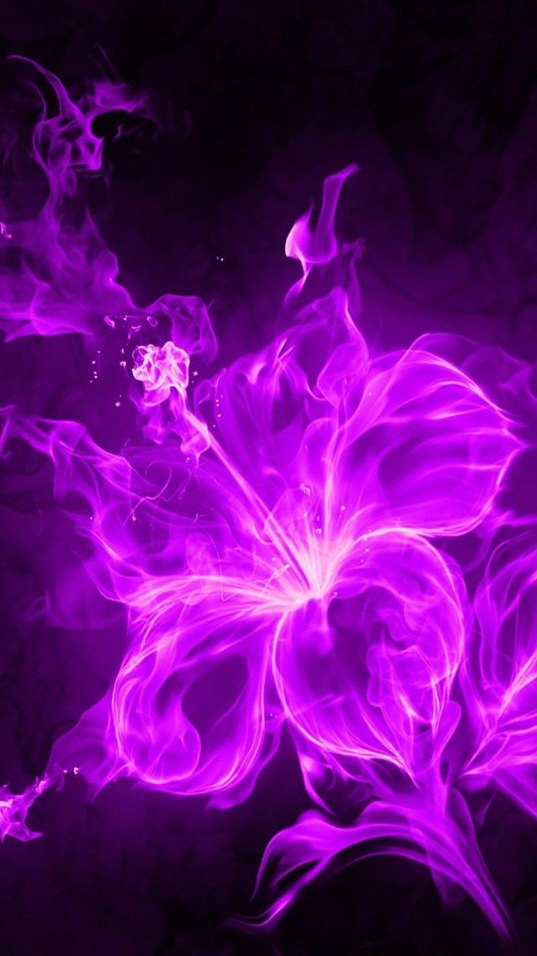 3D Purple Flower iPhone Wallpaper Flower iphone
