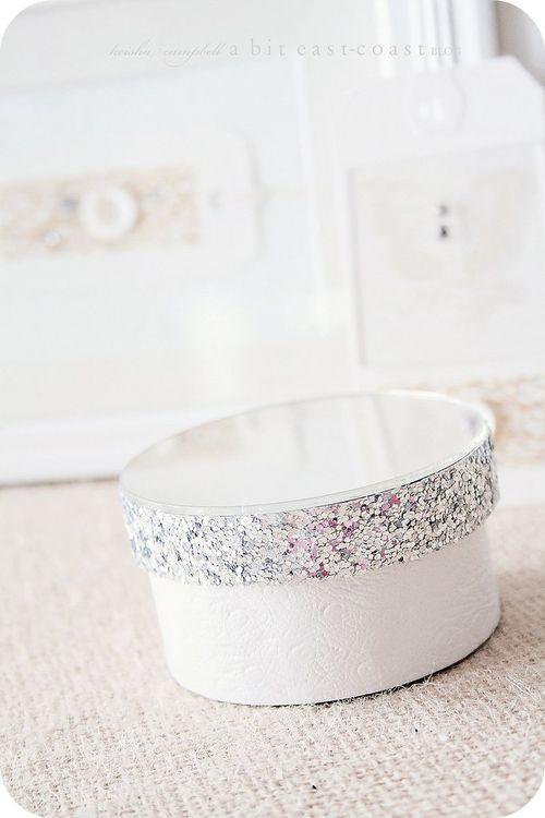 Glittered Paper Mache Gift Boxes