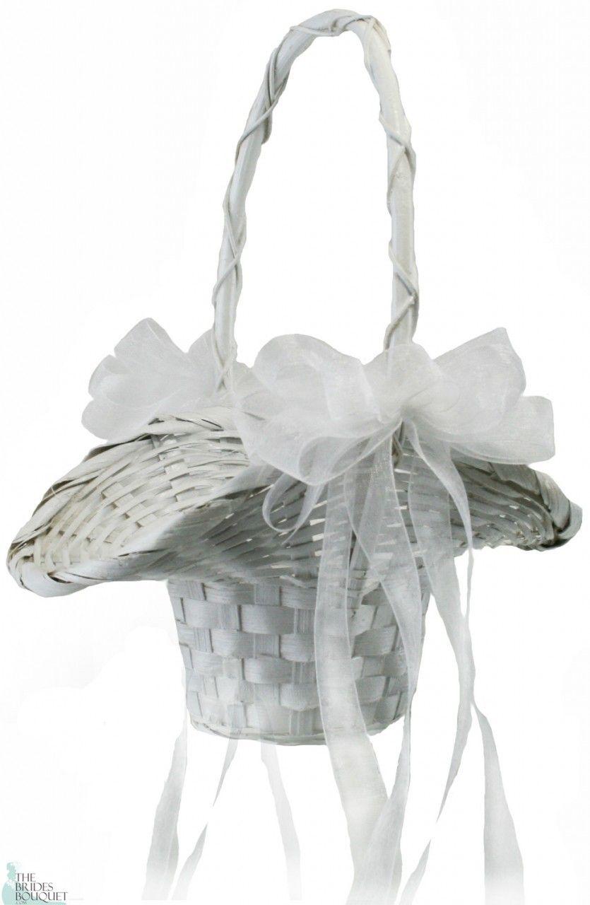 Basket With Bows Pinterest Flower Girl Basket Flower And Girls