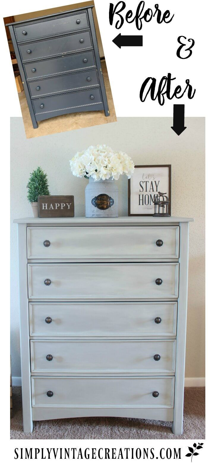 How To - Color Wash Effect With Chalk Paint #rusticbedroomfurniture