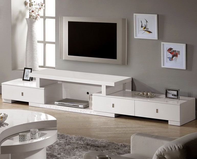 Livio Extendable White Gloss TV Cabinet Only 749 Live life with