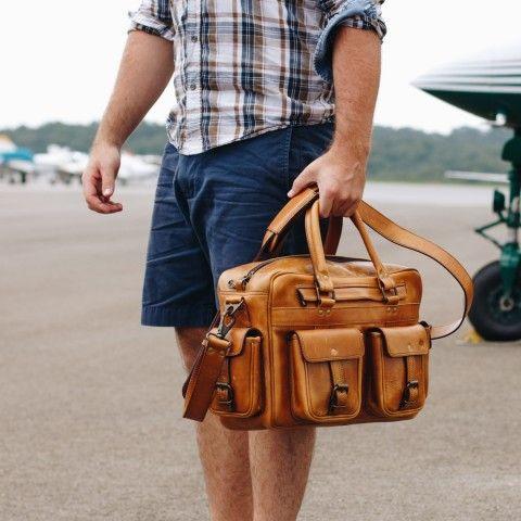2a0d602eaf Roosevelt Buffalo Leather Pilot Bag