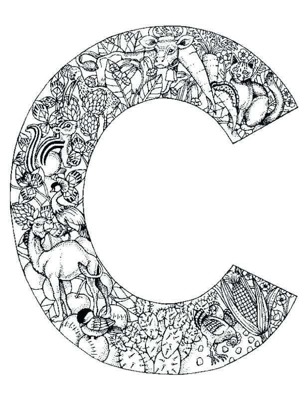 Animal Alphabet Letter C Coloring Pages To Print Free Letter C
