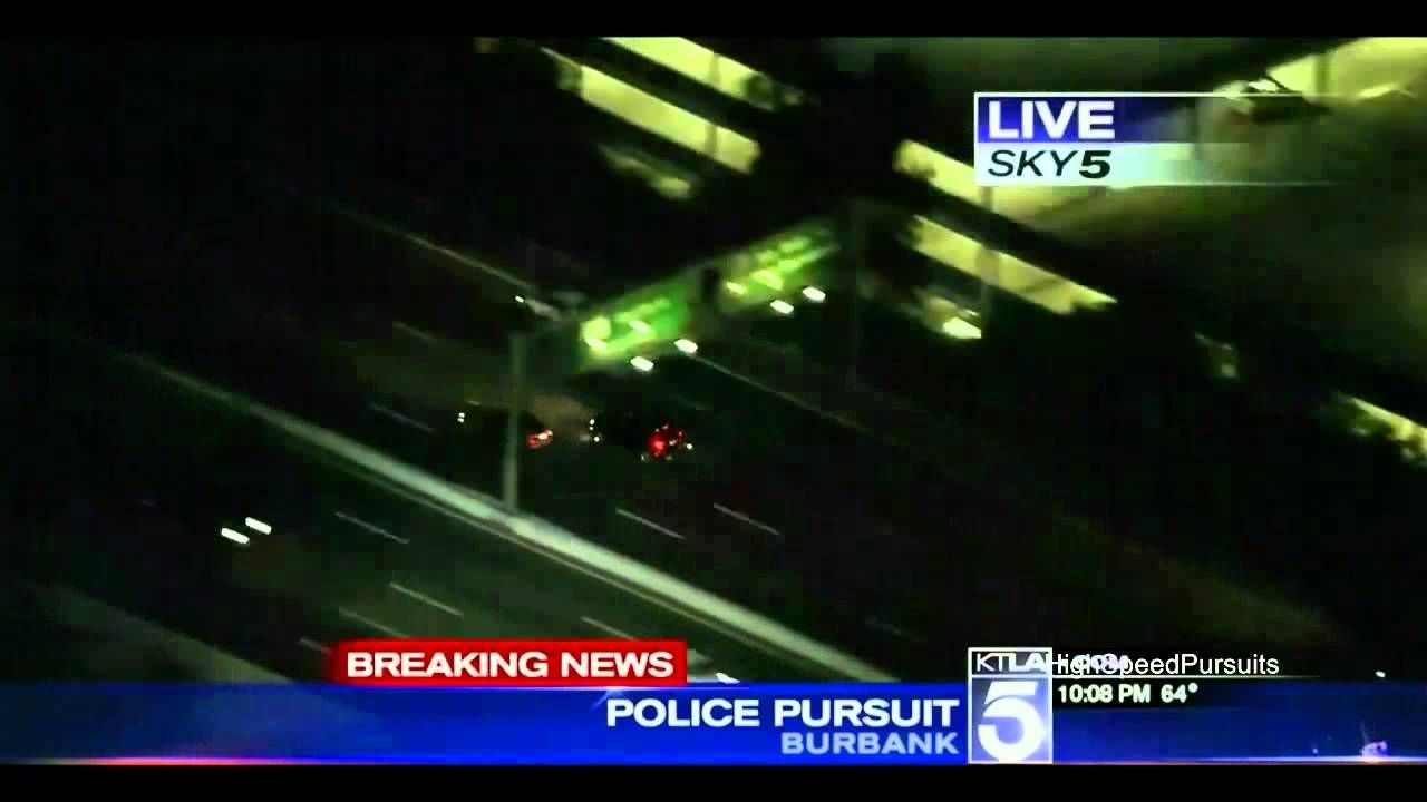 Southern California High Speed Police Pursuit Armed Robbery Suspect Ktla Armed Robbery Robbery Police