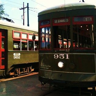 St. Charles Street Cars, New Orleans, Louisiana