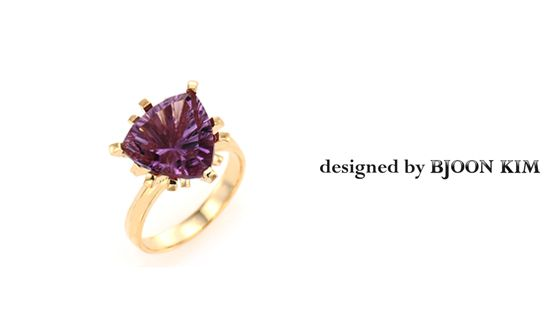 디포이 쥬얼리 디자이너 김비준 Bjoon Kim at dipoi      Icy Crust  Amethyst, Diamond, 750 yellow Gold  designed by Bjoon Kim