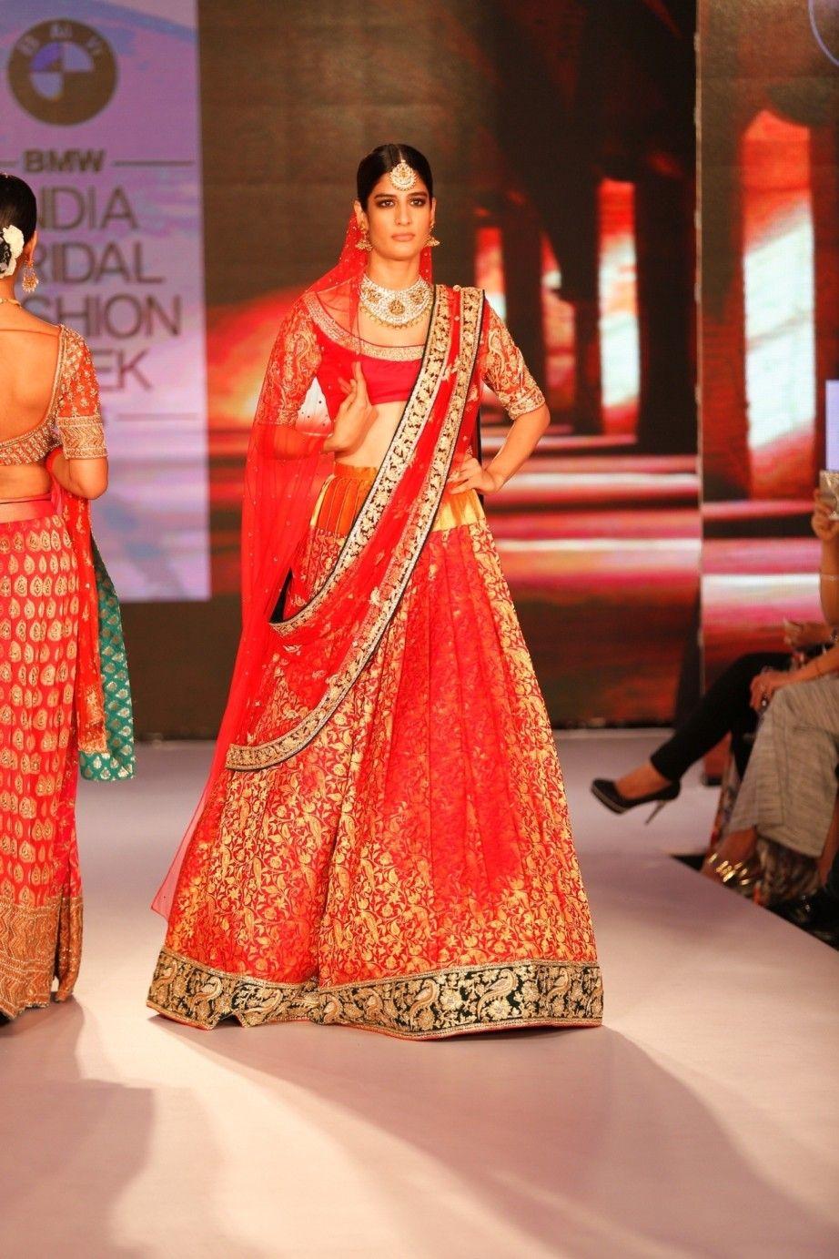 b19668648136 Red Silk Zardozi Kanjivaram Lehenga With Blouse #bandbaajaa.com  #weddinglehengas #bridallehangas #shaadilehengas #designerlehengas  #lehengacholi ...