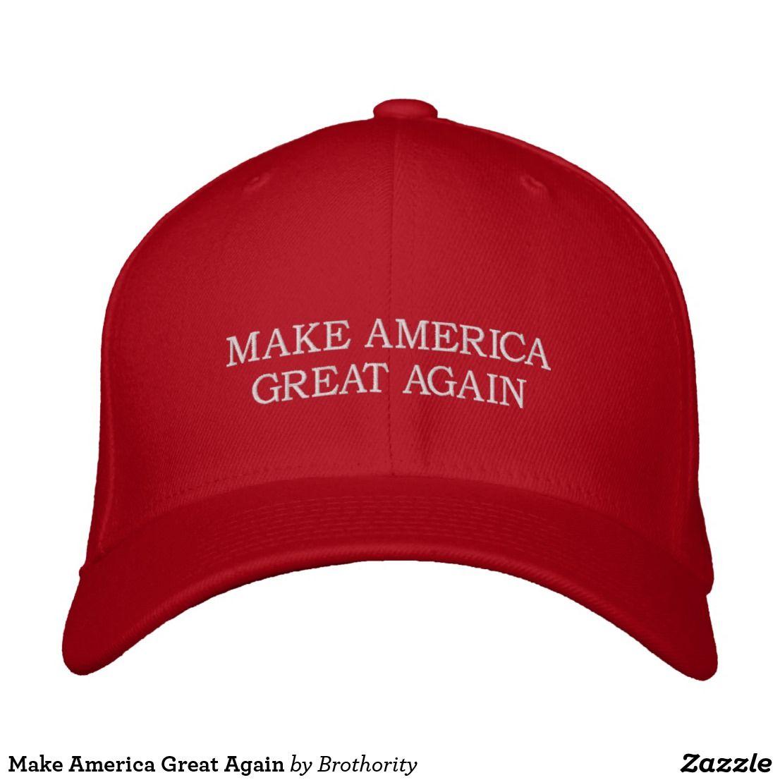 Make America Great Again Embroidered Baseball Cap
