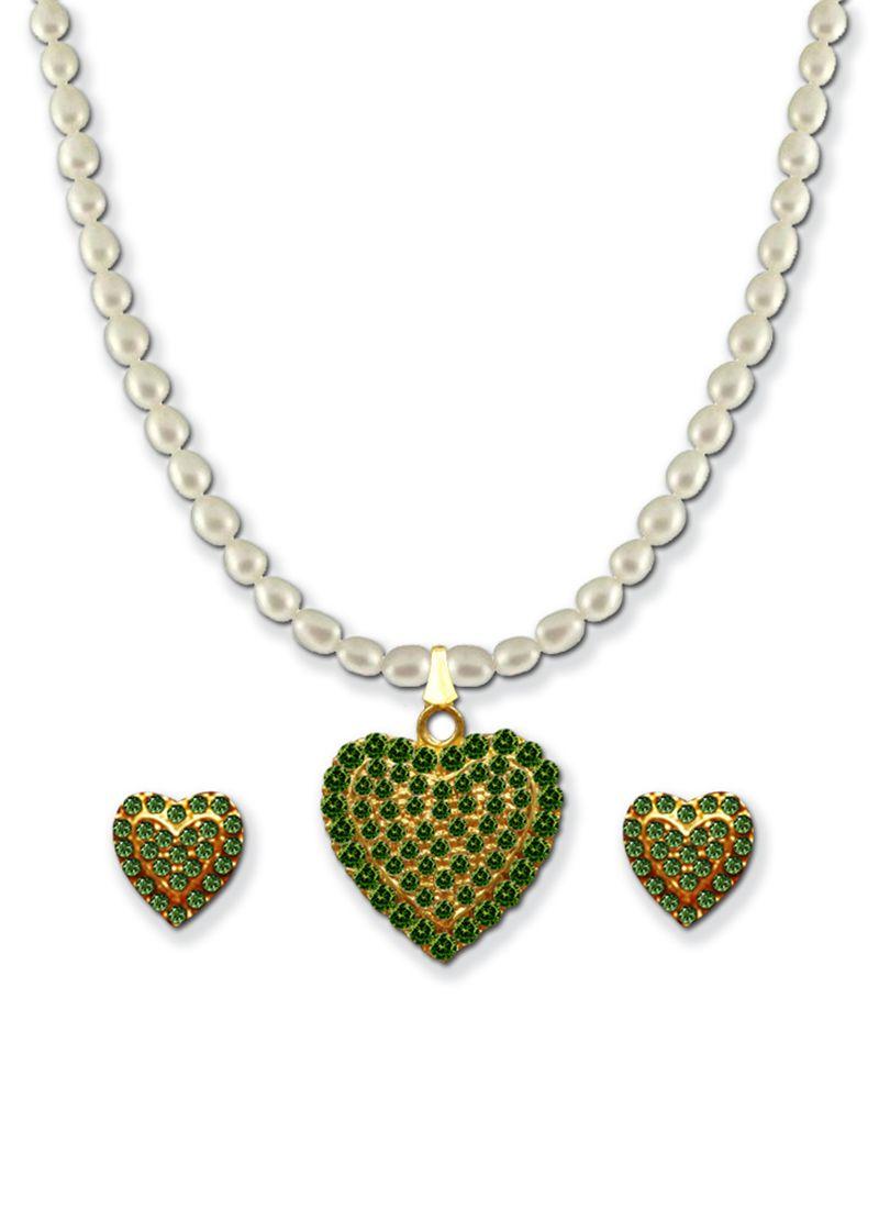 Shining moti necklace set saree pinterest saree
