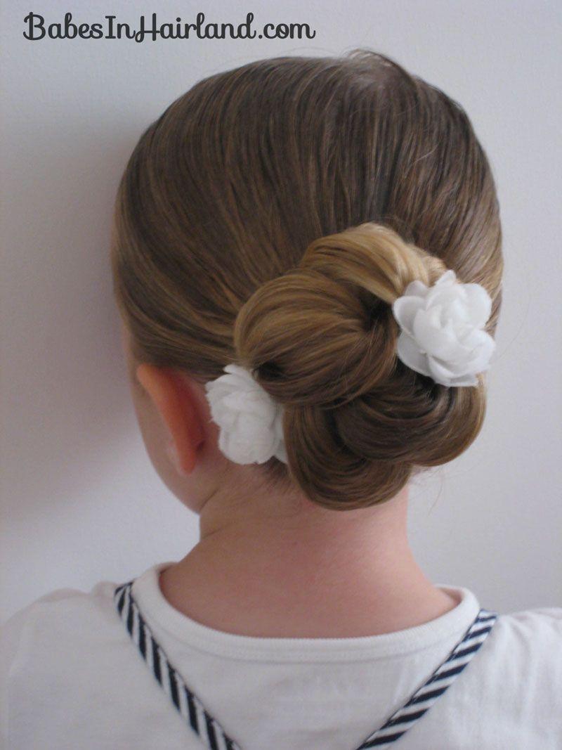 Loopy Looking Bun Flower Girl Hairstyles Ballet