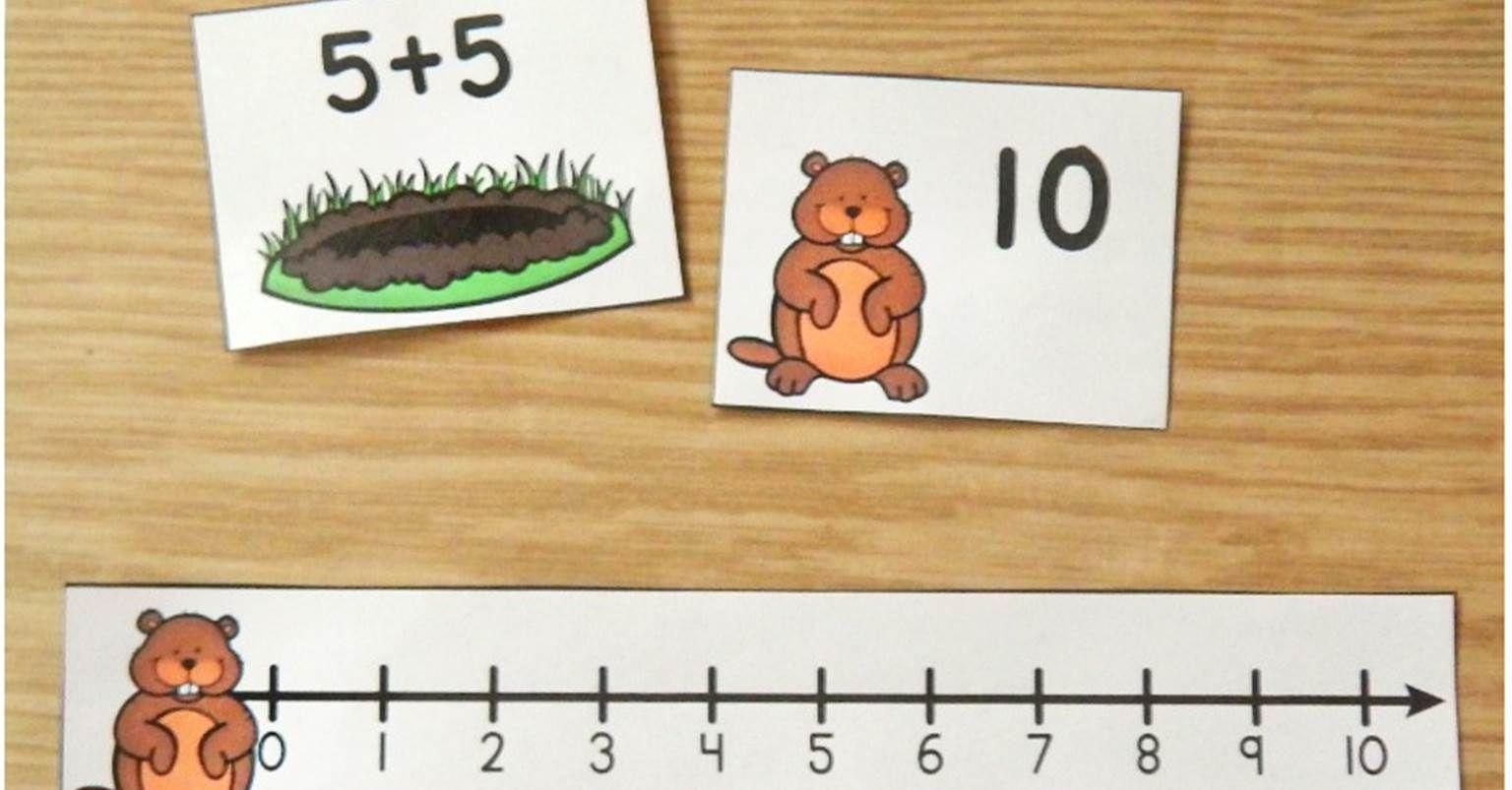 Groundhog Math Facts Groundhog Day Activity