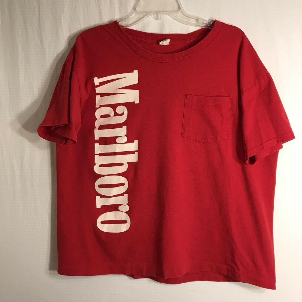 Womens Marlboro Red Graphic Tee Size XL fashion clothing