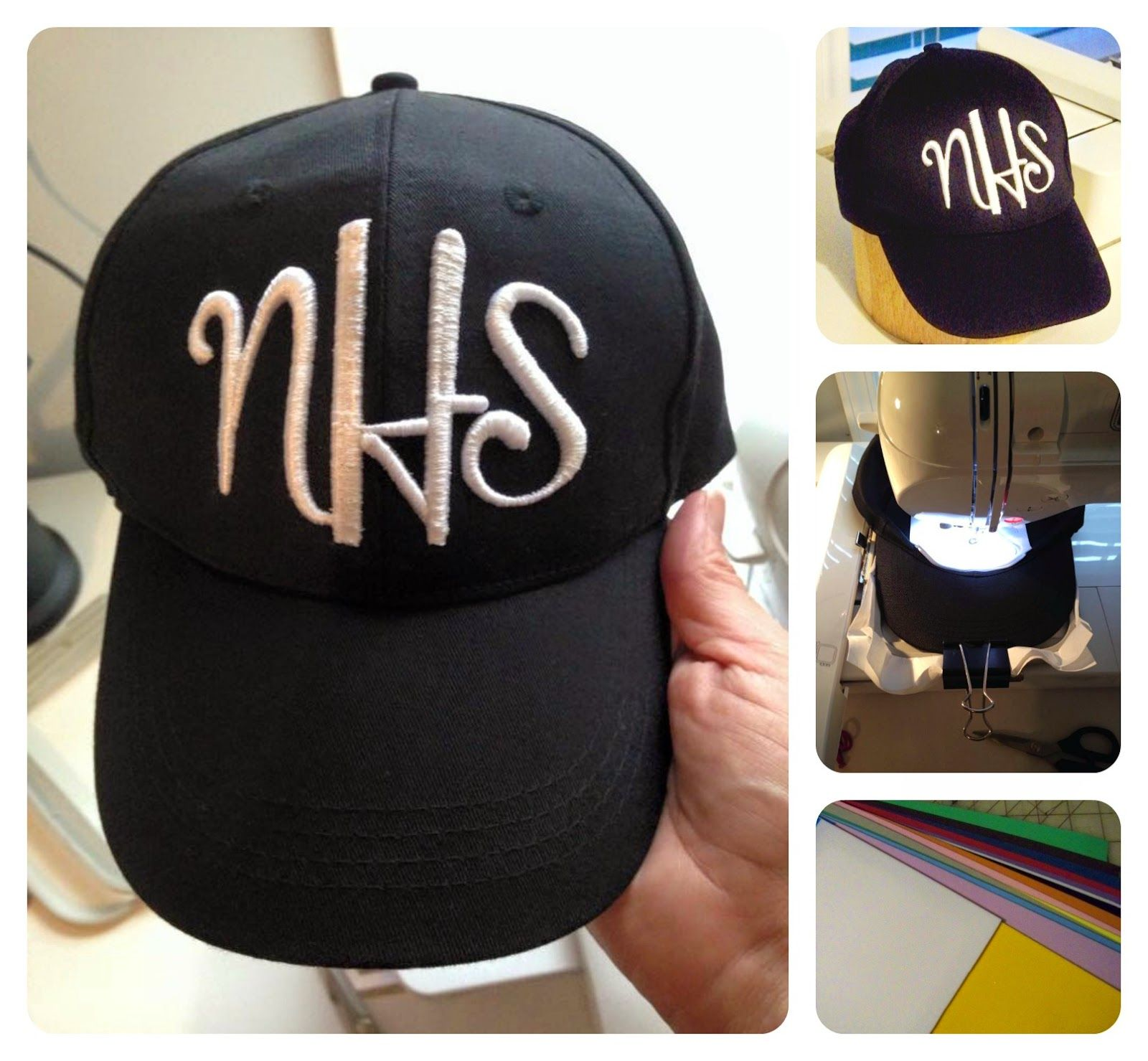 Baseball Cap Embroidery Using Embroidery Foam Machine Embroidery Projects Machine Embroidery Sewing Embroidery Designs