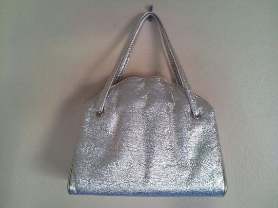 Vintage metallic silver purse by PoolsofLaughter on Etsy, $18.00