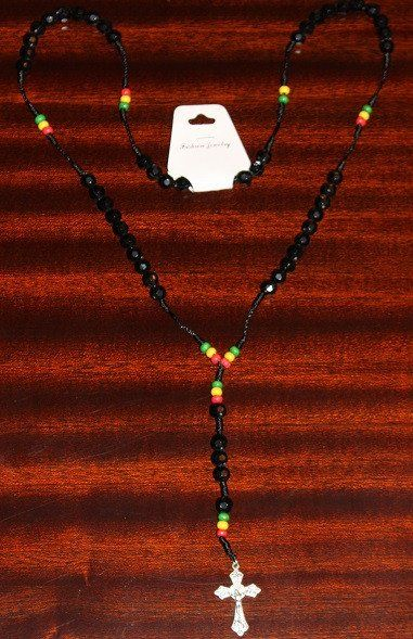 Rasta Rosary Necklace