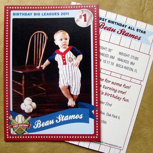 Baseball Card Birthday Invitation By Sydneystamos On Etsy 300