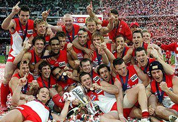 Sydney Swans...my favourite team... GRAND FINAL WINNERS YEAAAHH