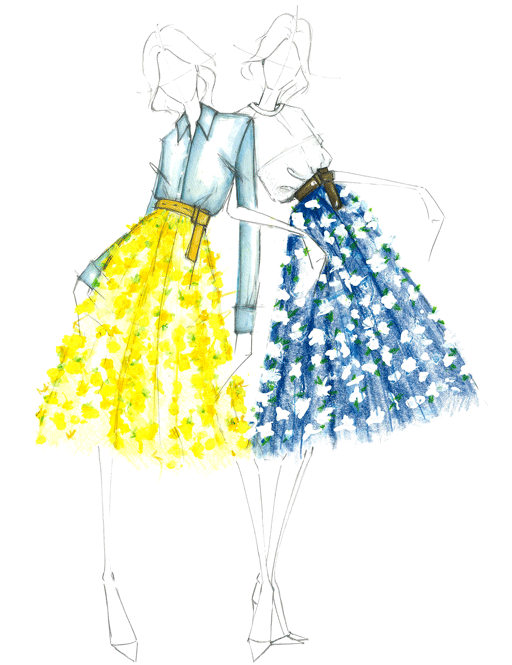 Come Spring, I will be avoiding all Michael Kors window displays in fear of going bankrupt from purchasing these skirts.   #alessandradegregorio #MichaelKors