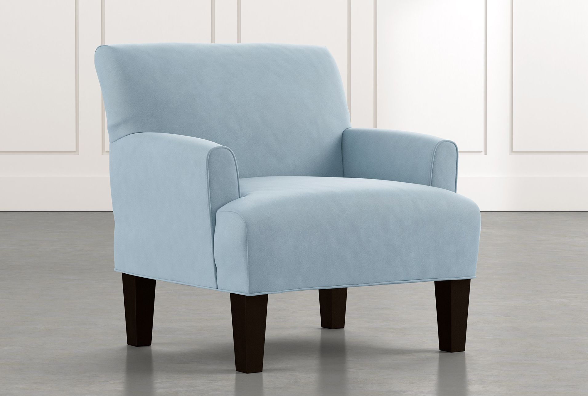 Elijah Ii Light Blue Accent Chair Stripe 495 Blue Accent