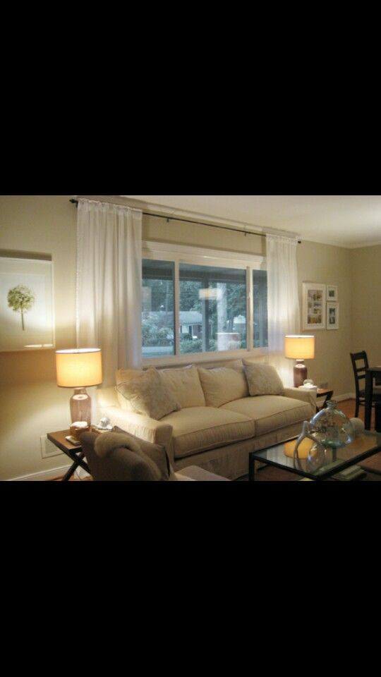 Curtain Placement In Short Window Living Room Windows