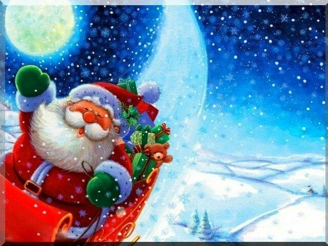 Santa Wallpaper Cute The Holidays O Pinterest Christmas