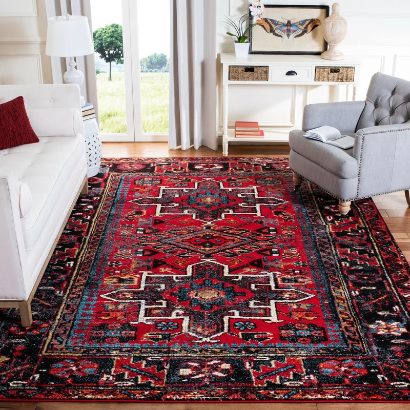 Bloomsbury Market Barrera Southwestern Red Area Rug Reviews Wayfair In 2020 Red Rug Living Room Oriental Rug Living Room Rugs On Carpet