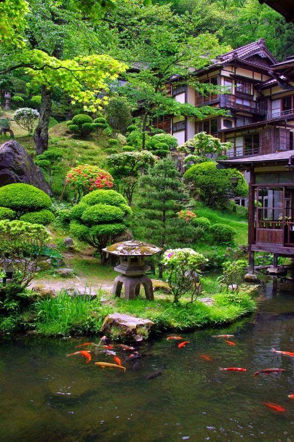 Borrowed scenery | Japanese garden design, Japanese garden, Japan garden
