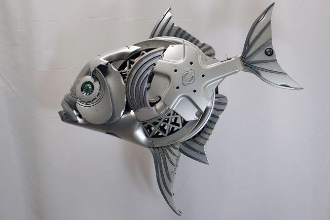 Pin By Hubcap Creatures On Hubcap Sculptures Scrap Metal Art Metal Art Fish Sculpture