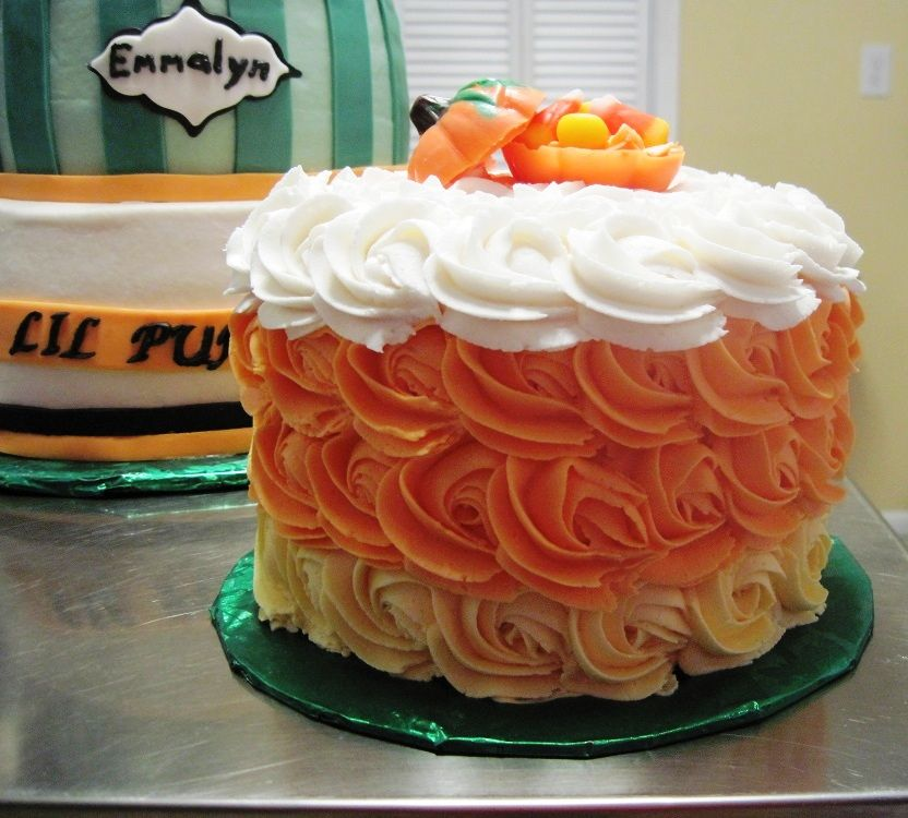 Pumpkin Smash Cake: October Lil Pumpkin Smash Cake!