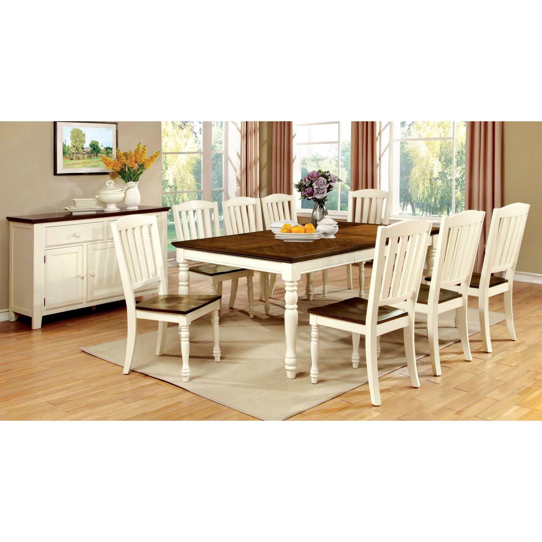 cottage dining rooms. Furniture Of America Besette Cottage Dining Table - IDF-3216T Rooms N