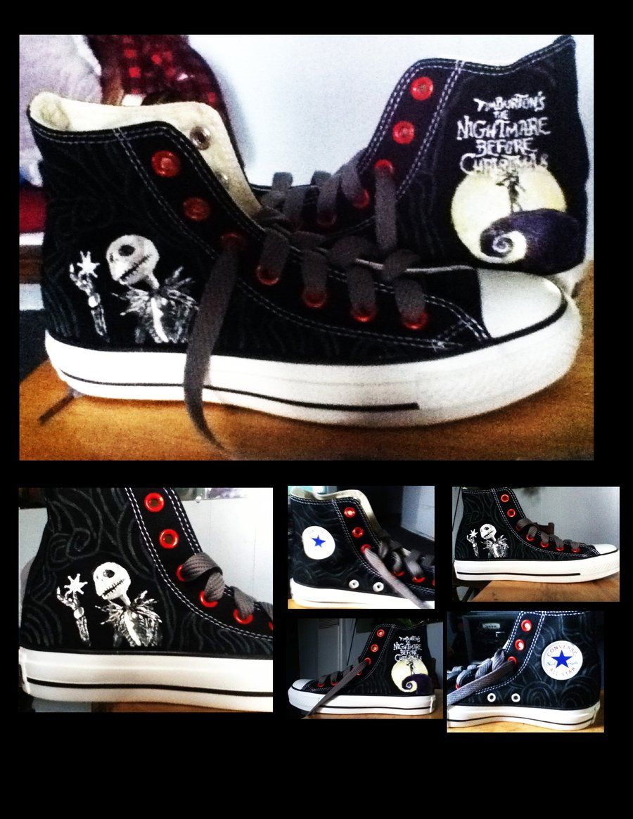 The Nightmare Before Christmas Converse by ~KIRA009 on deviantART ... e40bb9a12