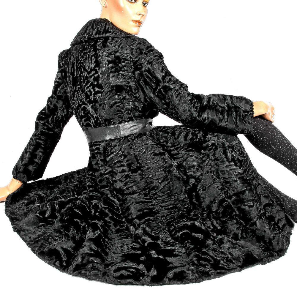 Persianer mantel schwarz