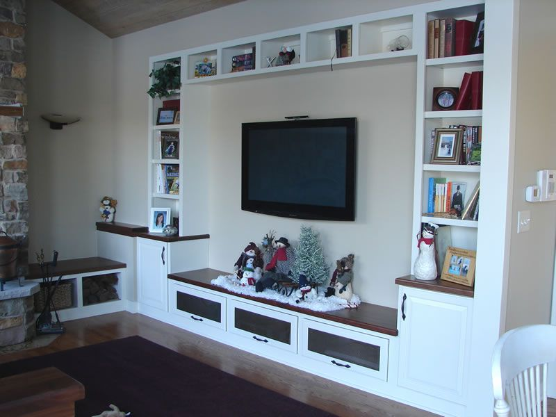 White Entertainment Center With Fireplace White TV Stand   House ...
