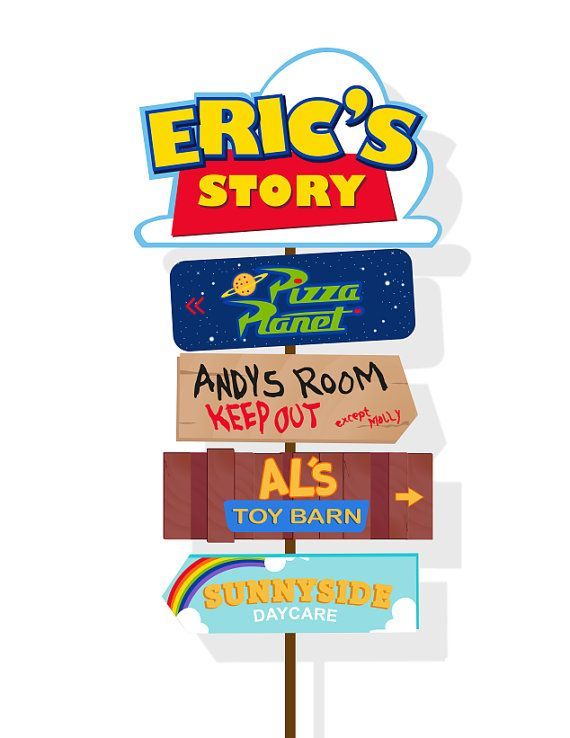 Personalized Toy Story arrow sign digital file by ...