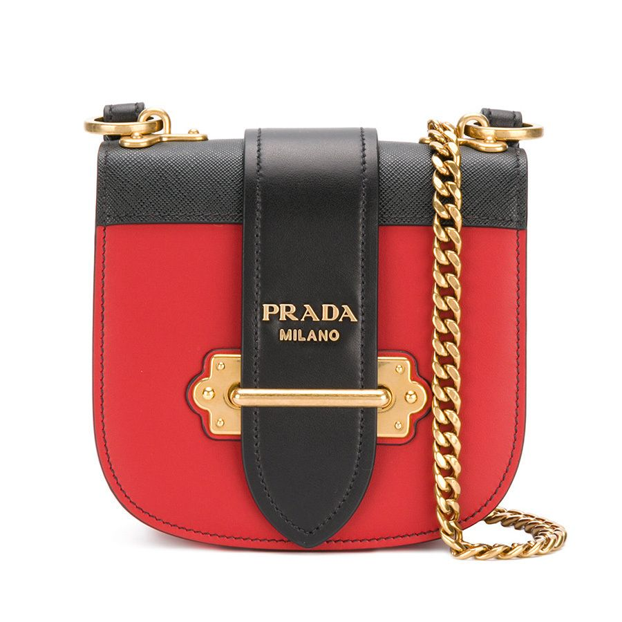 3934da0bc3c6 PRADA Shoulder Bags Saffiano Bi-color Plain Party Style Luxury Brand Chain  Bag 10