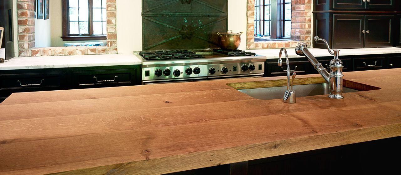 Reclaimed Wood Bar Counter White Oak Countertops Hardwood