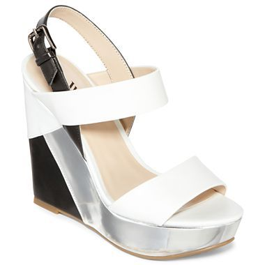 Worthington® Selma Two-Tone Wedge Sandals - jcpenney