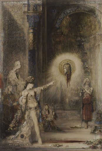 The Apparition portrays Salome who, according to the Gospels, bewitched the  ruler Herod Antipas, the husband of her mother Herodiad, with her dancing.  As a...