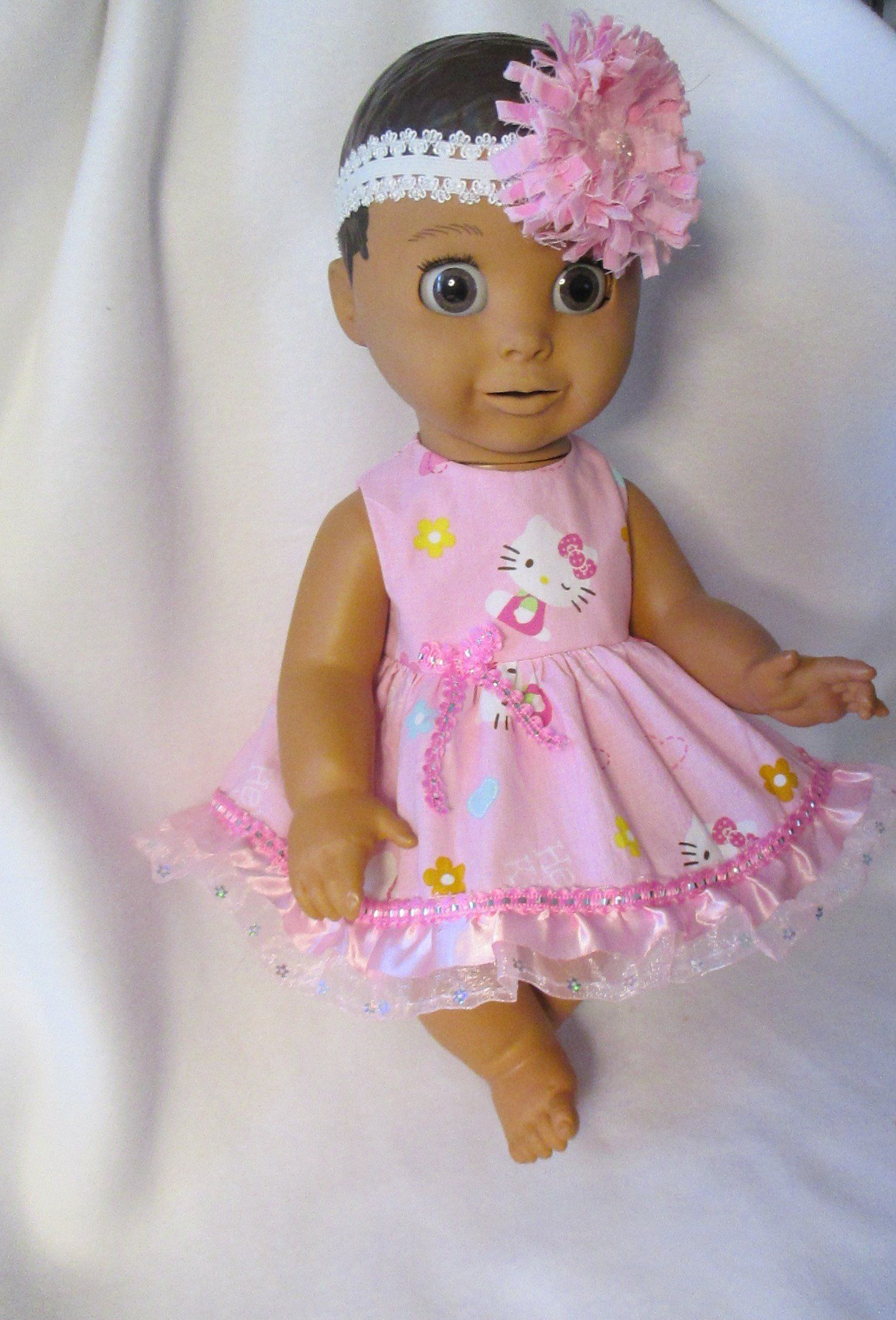 4720d5dd7 Luvabella Hello Kitty Fancy Boutique style Pink Sparkle Dress & Headband 2  Pcs. by Giftsbygammy on Etsy