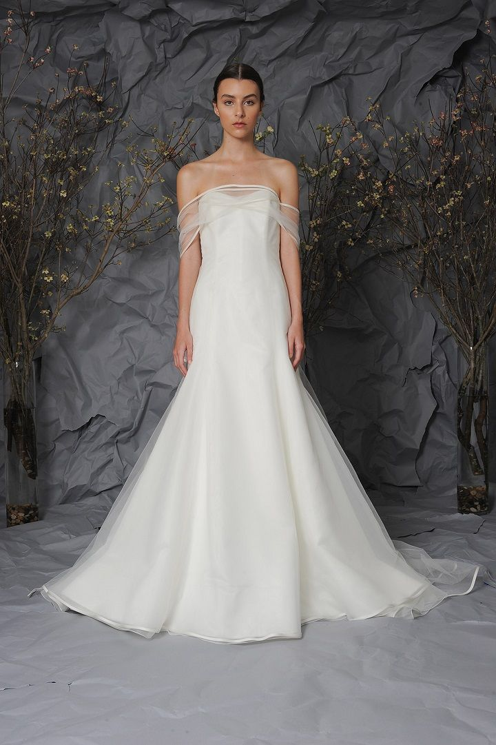 Austin Scarlett Bridal 2017 Wedding Dresses | A-line gown with Silk Satin Organza | fabmood.com #weddingdress #weddingdresses #bride #weddinggown #ballgown