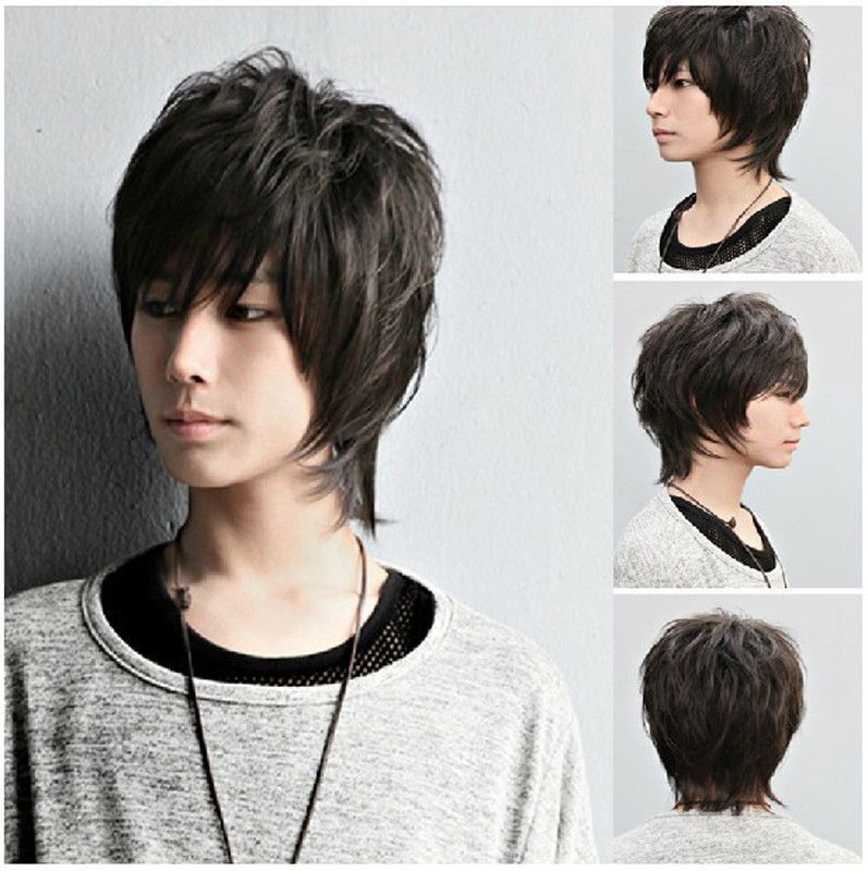 Details About Men S Fashion Full Wig Wigs Hairpiece Toupee 100 Real