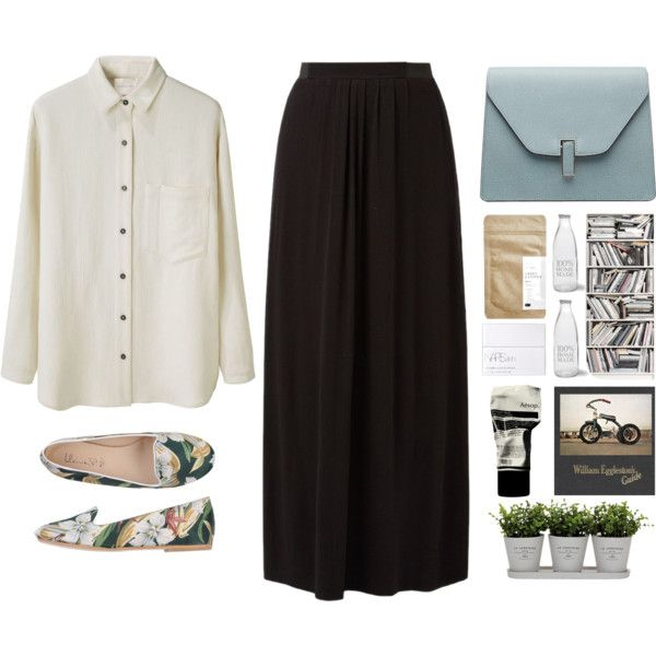 Black & White #1 by shushuoqi on Polyvore featuring La Garçonne Moderne, Ilenia P., Valextra, NARS Cosmetics, Aesop, Brewster Home Fashions, Torre & Tagus and Garden Trading
