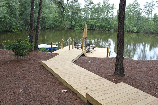 Docks piers manson look at these for the home for Pond pier plans