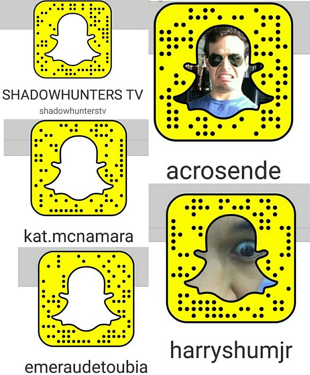 Xxx Snap Chat Names Pretty add the #shadowhunters cast on snapchat!"