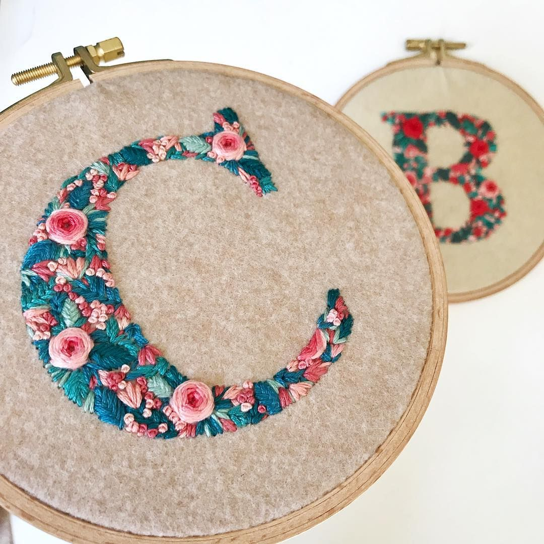 Floral Letters Embroidery Letters Floralembroidery